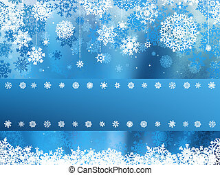 bleu, snowflake., eps, noël, 8