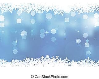 bleu, snowflakes., eps, fond, 8