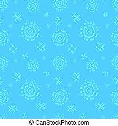 bleu, snowflakes., hiver, fond, seamless