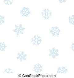 bleu, snowflakes., seamless, fond