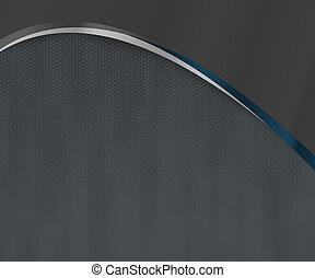 bleu sombre, arc, fond, formes