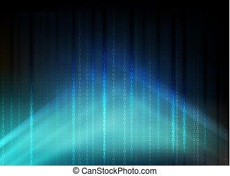 bleu sombre, nombres, fond