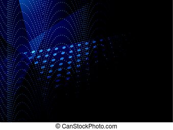 bleu sombre, résumé, technologie, fond