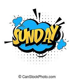 bleu, son, art, pop, dimanche, semaine, effets, fin, comique