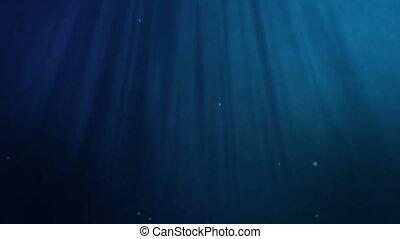 bleu, sous-marin, loopable, fond