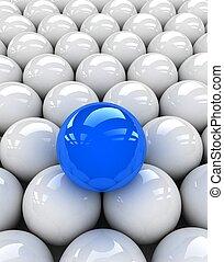 bleu, sphère