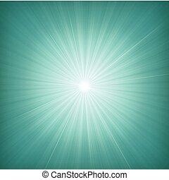 bleu, starburst, fond