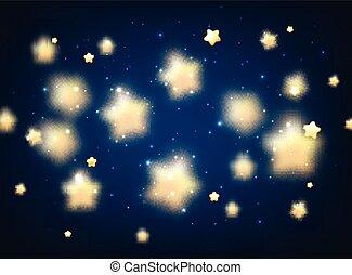 bleu, stars., fond