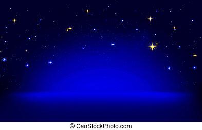 bleu, stars., résumé, arrière-plan., fond, noël