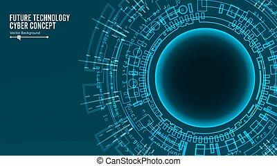 bleu, structure., network., données, résumé, global, système, connect., arrière-plan., connexion, vecteur, communication, technologie, électronique, futuriste