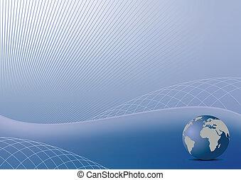 bleu, style, business, -, résumé, couverture, illustration,...