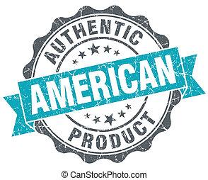 bleu, style, grunge, produit, isolé, américain, retro, cachet