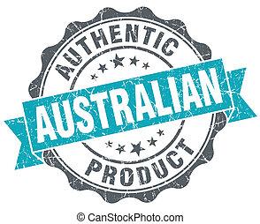 bleu, style, grunge, produit, isolé, retro, cachet, australien