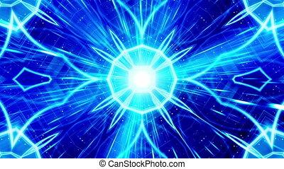 bleu, style, particule, vj, épique, boucle