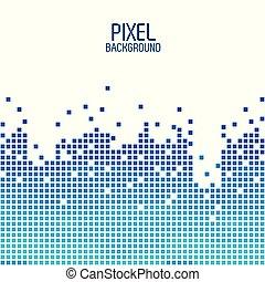 bleu, sur, conception, fond, blanc, pixel