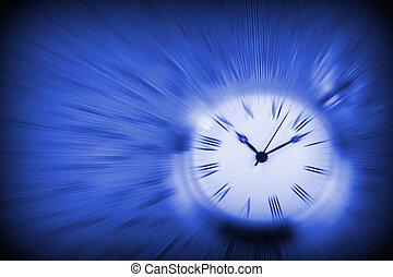 bleu, surface, heures