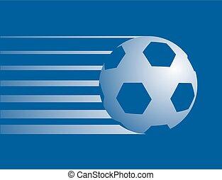 bleu, symbole, boule football