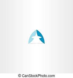 bleu, symbole, logotype, élément, vecteur, conception, lettre