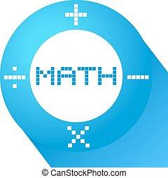 bleu, symbole, math
