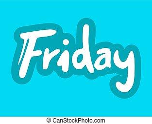 bleu, symbole, vendredi