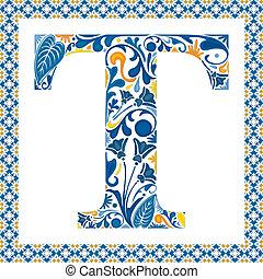 bleu, t, lettre