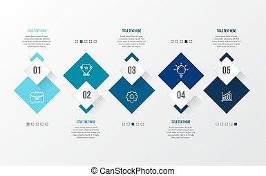 bleu, table, moderne, 3d, infographic