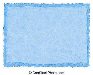 bleu, taché, papier