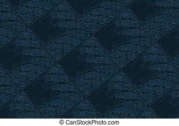 bleu, tapisserie ameublement, matériel, texture, fond, ou