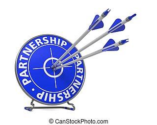 bleu, target., concept, succès, couleur, association, -