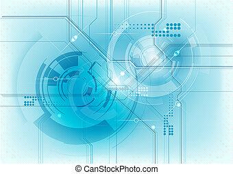 bleu, technologie