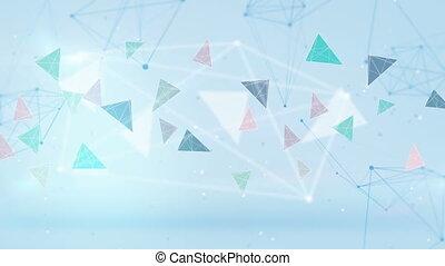 bleu, technologie, réseau, boucle