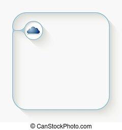 bleu, texte, symbole, boîte, nuage