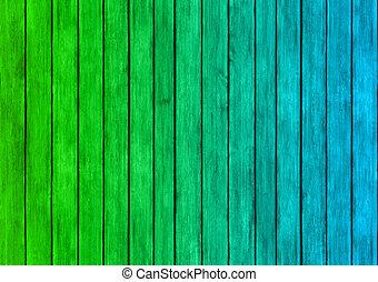 bleu, texture, bois, arrière-plan vert, panneaux