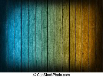 bleu, texture, bois, fond, orange, panneaux