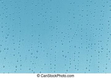 bleu,  texture:, résumé, eau, fond, gouttes