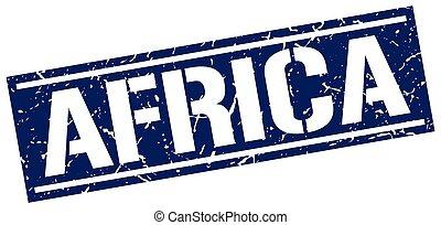 bleu, timbre, carrée, afrique