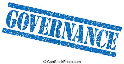 bleu, timbre, isolé, gouvernement, fond, grungy, blanc