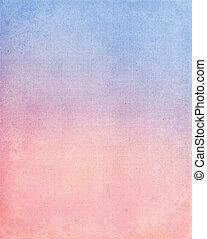 bleu, tissu, arrière-plan rouge