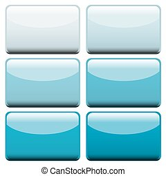 bleu, toile, boutons