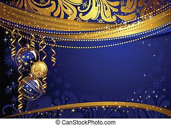 bleu, toile de fond