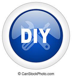 bleu, toile, mobile, app, illustration, bouton, bricolage, icône internet, cercle, lustré