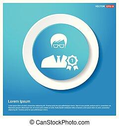 bleu, toile, résumé, récompense, utilisateur, bouton, autocollant, icône