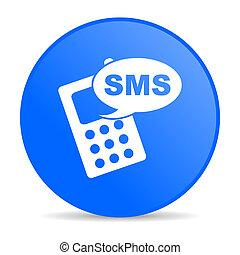 bleu, toile, sms, lustré, cercle, icône