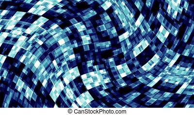 bleu, tordu, carrés