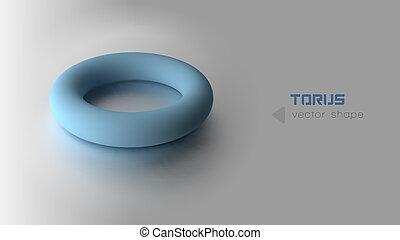 bleu, torus