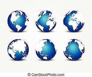 bleu, tout, concept, autour de, ), (, planète, conservation, mondiale, la terre, côté