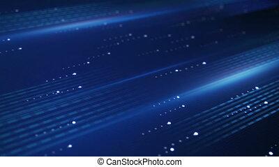 bleu, transfert, loopable, données, fond, technologie