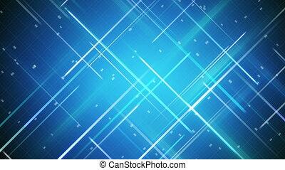 bleu, traversé, raies, fond, loopable