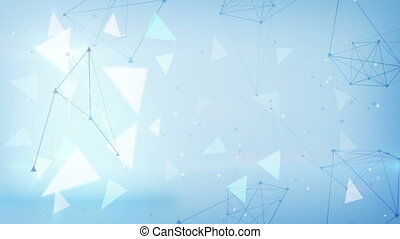 bleu, triangles, loopable, technologie