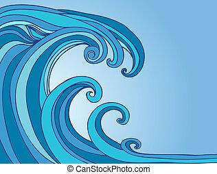 bleu, tsunami